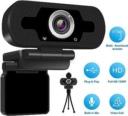 und Aufnahmesystem f/ür PC-Laptops Anivia 1080p Webcam Kamera PC Webcam W5 Full HD Webcam USB Kamera Hochaufl/ösendes eingebautes Stereomikrofon Lebensechtes Videoanruf
