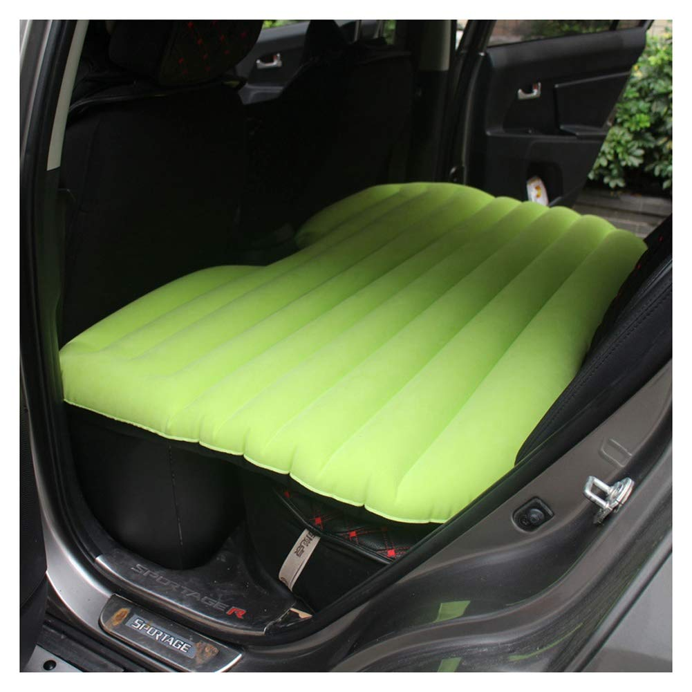 Car Inflatable Bed Outdoor Air Mattress Camping Self-Driving Tour Rest Inflatable Bed Sleep Air Mattress, Universal Auto Accessories CIM0929 (Color : Green) by ZCY-Auto Mattress