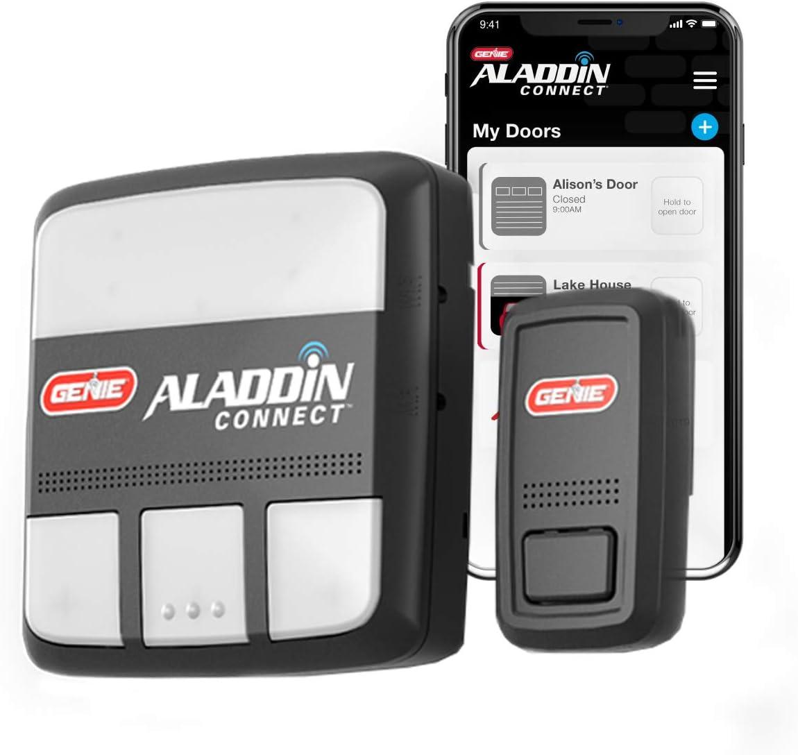 Genie ALKT1-R Aladdin Connect Smart Garage Door Opener, Kit, Works with Alexa Google Assistant