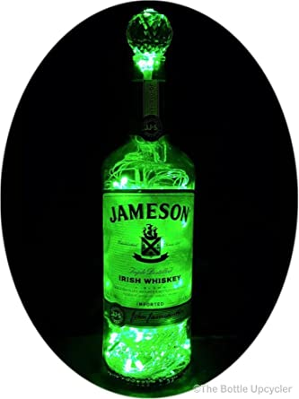 Upcycled Jameson Irish Whiskey Mood Therapy Liquor Bottle Light w 100 Green  LED s Topped Off with an Asfour 30% Leaded Clear Crystal Prism Ball - -  Amazon. ... d89fe23a3416