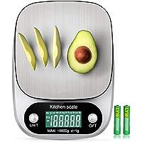 10kg/ 22lb Digital Kitchen Food Scale Rechargeable g/oz/ml/ct/kg/tl/fl:oz/lb:oz/lb Multifunction Stainless Steel 1g…