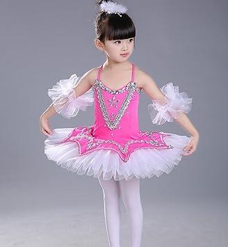 Trajes de Bailarina para niños niñas arnés Puff Falda Blanca ...