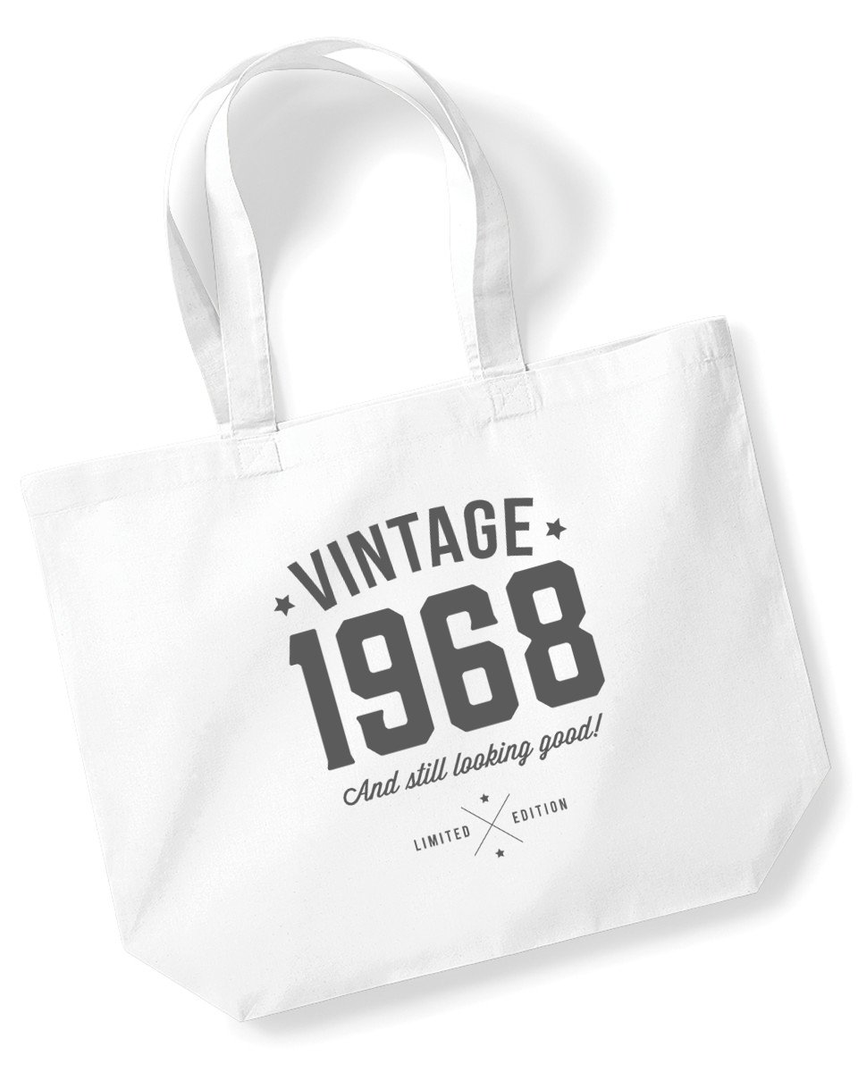 50th Birthday, 1968 Keepsake, Funny Gift, Gifts For Women, Novelty Gift, Ladies Gifts, Female Birthday Gift, Looking Good Gift, Ladies, Shopping Bag, Present, Tote Bag, Gift Idea Design Invent Print!