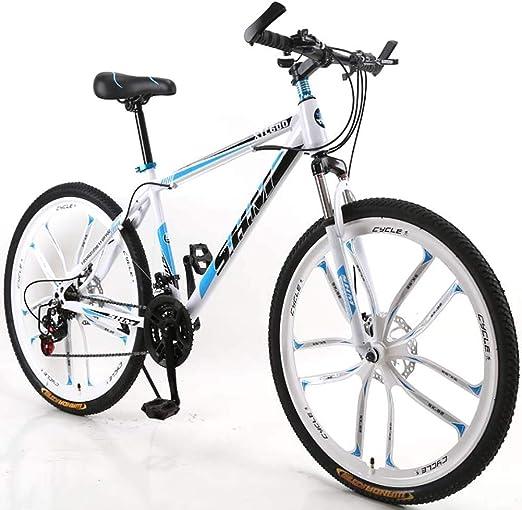 F-JWZS Unisexo 21 Velocidades Bicicleta de Montaña, 26 Pulgadas ...