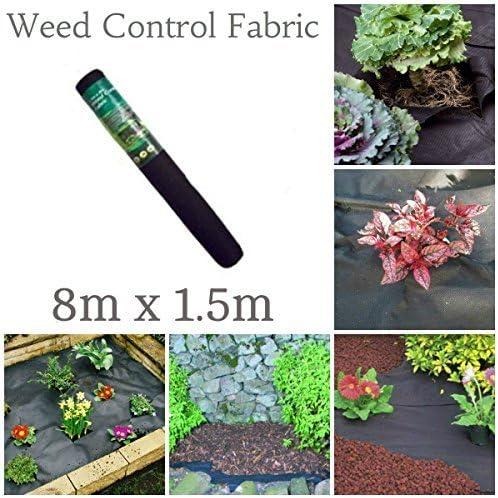 garden mile 1.5m m x 8m Negro Tela Control Mala Hierbas mantillo Membrana Lámina para Suelo jardín Camino jardinería Material 17gsm: Amazon.es: Jardín
