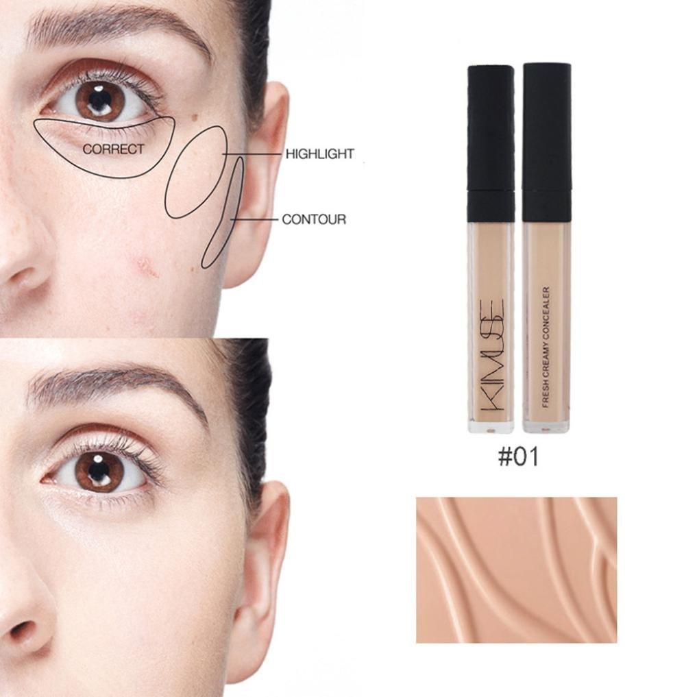 LtrottedJ Concealer Liquid Makeup ,Stick Moisturizing Dark Circles Marks Spots (B)