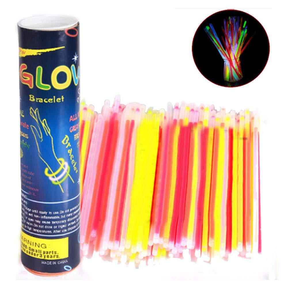 AOLVO Glow Sticks Bulk, 100 Unidades de Pulseras de Cuentas ...