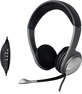 USB Headset with Adjustable Microphone Wired on Ear Headphone for PC, PS4, Laptop and Mac