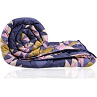 Decoforia Daisy Microfiber Reversible Quilt Blanket AC Comforter, Double