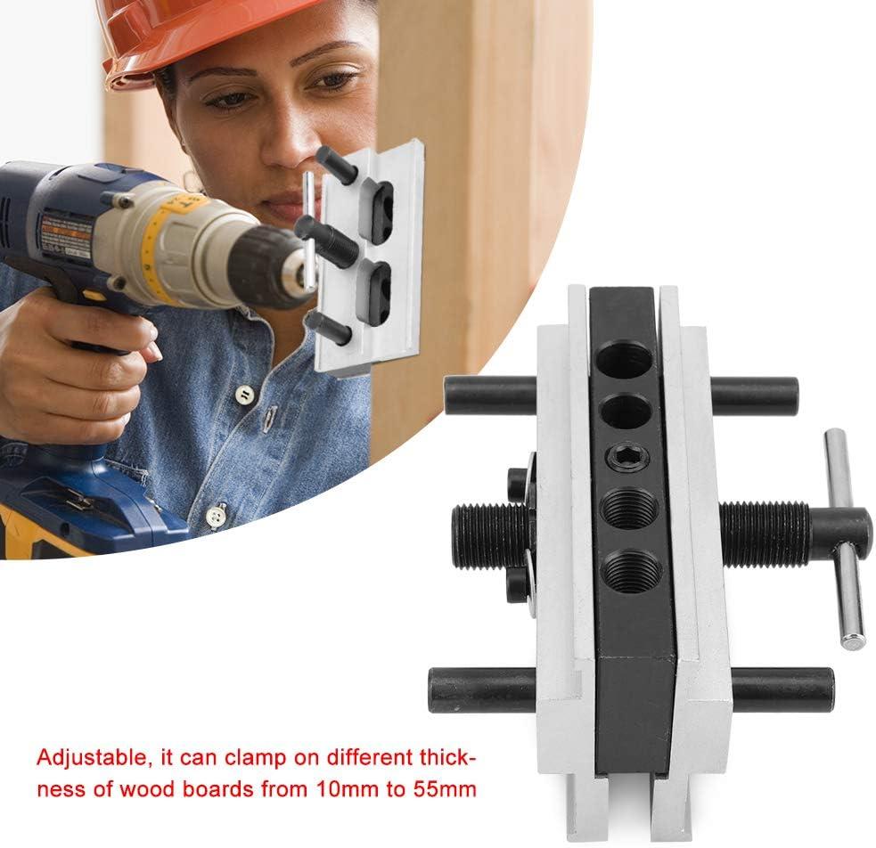 pour le travail du bois Gabarit de goujonnage /à centrage automatique outil de rep/érage de meubles Outil de joints /à bois Gabarit de goujonnage