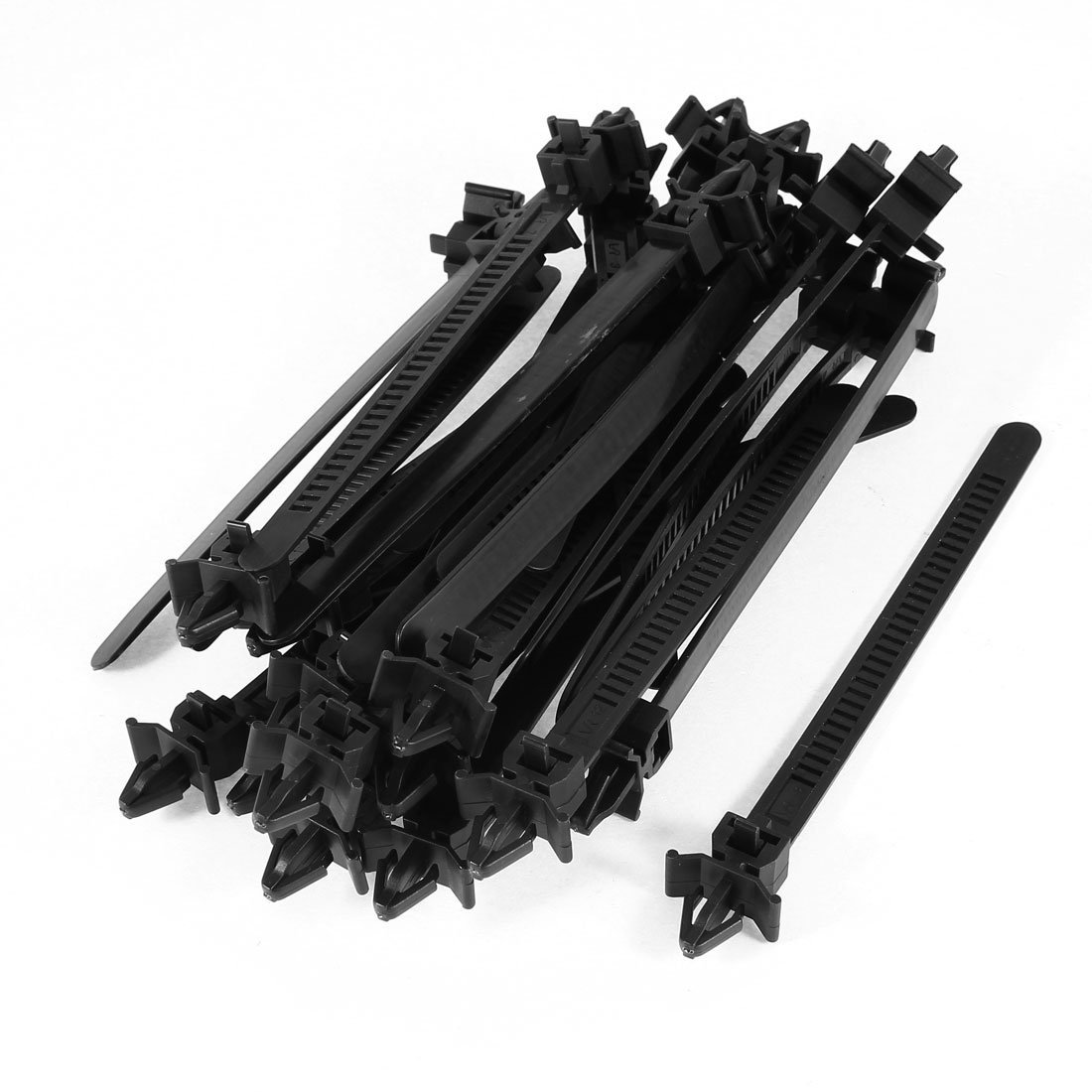 Uxcell Releasable Arrowhead Push Mount Cable Ties 124mm Long 30 Pcs Black