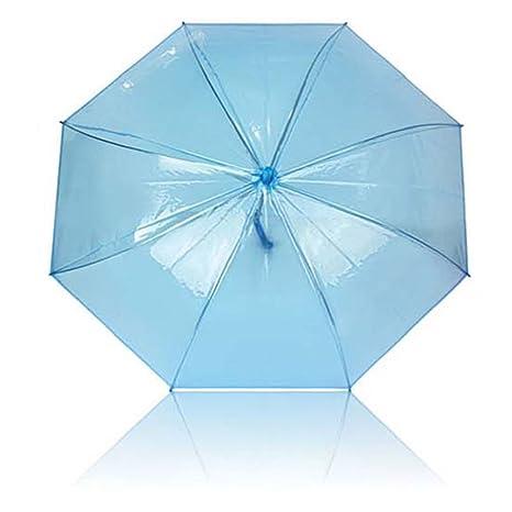 Paraguas burbuja transparente azul