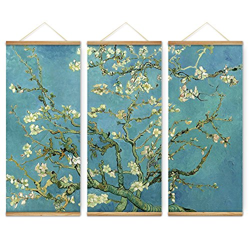 3 Pieces Impressionism Almond Blossom Decoration Wall Art Pi