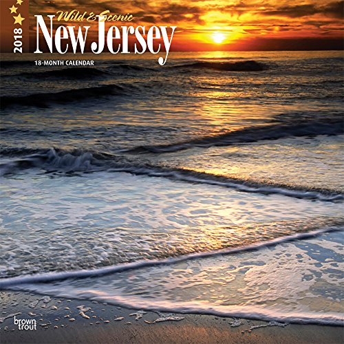 New Jersey, Wild & Scenic 2018 12 x 12 Inch Monthly Square Wall Calendar, USA United States of America Northeast State Nature (Multilingual Edition)