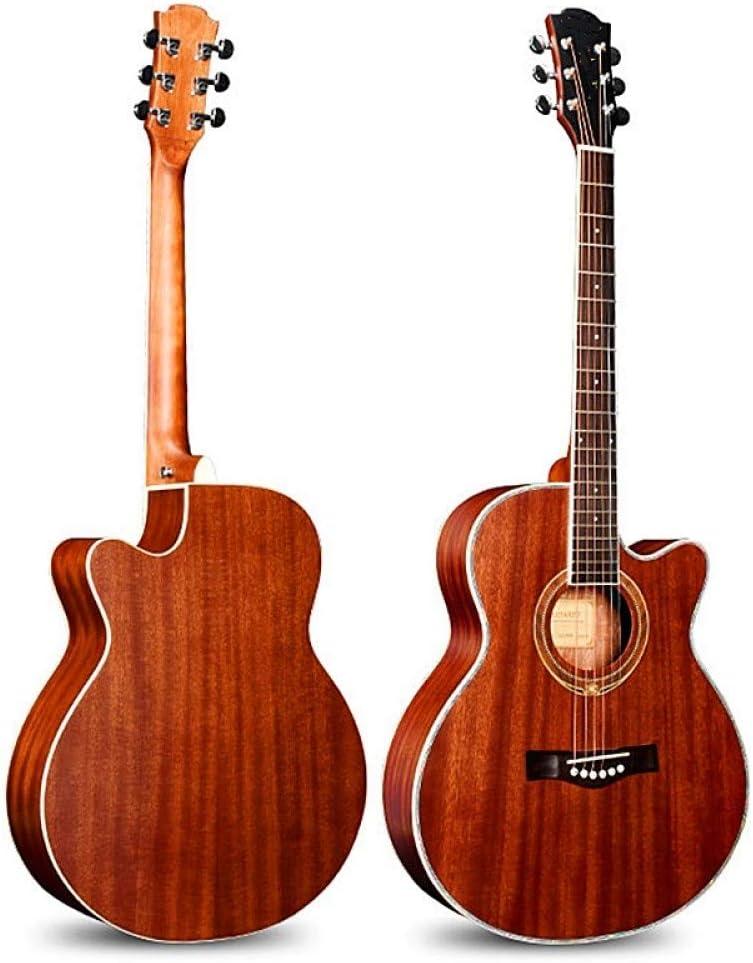 LOIKHGV Guitarras- 1 pcs Guitarras 40 41 Pulgadas Guitarra acústica Diapasón de Palisandro Guitarra Madera Instrumentos Musicales con Cuerdas de Guitarra, 40 Pulgadas