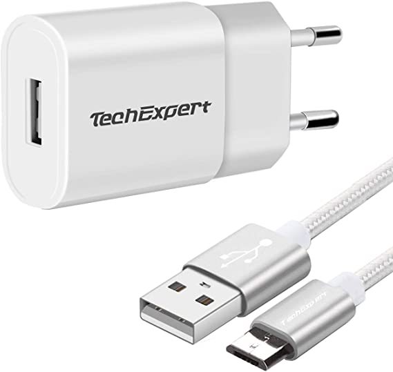 TechExpert Kit Cargador Blanco para ASUS Zenpad Z300 Z300M Z300C ...