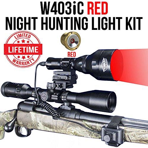 Wicked Lights W403iC RED Night Hunting Light Kit for Predator, Varmint & Hog Complete Red led Light kit