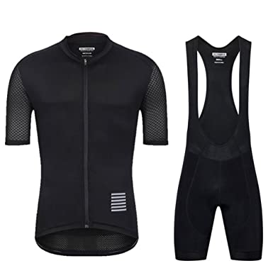 2abf8062c YKYWBIKE Men s Summer Breathable Cycling Jersey Mountain Bike Bib Short  Sleeved T-Shirt Elastic Jersey