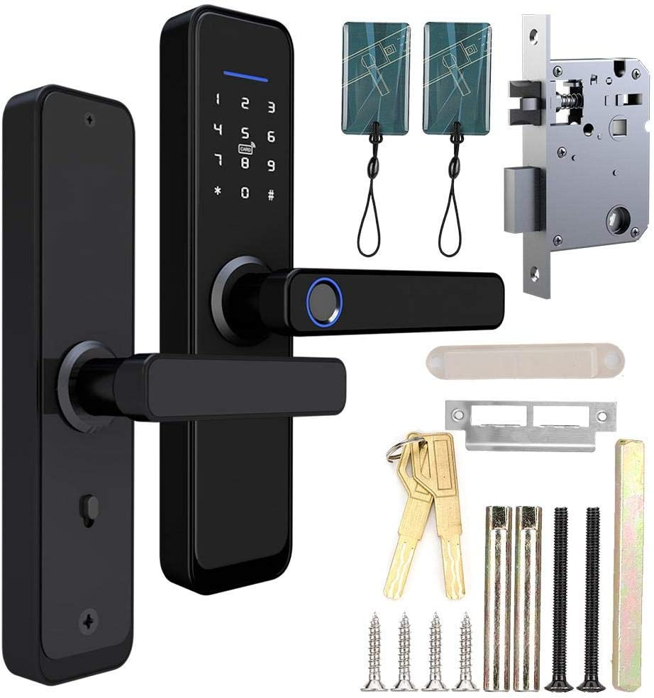 smart Electronic lock Electronic Smart Door Lock Touch Keypad Password IC Card Fingerprint Home Security Access Support for TT Lock APP