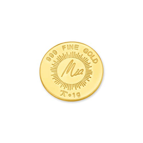 Buy Mia By Tanishq 1 Gm Lotus Gold Coin Online At Low Prices In India Amazon Jewellery Store Amazon In