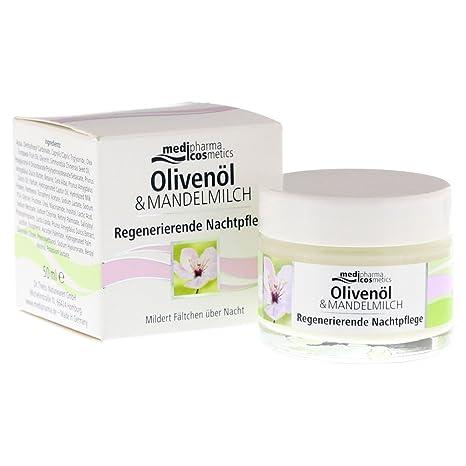 medip harma aceite de oliva & almendra Leche 8778556 Crema Noche Cuidado, ...
