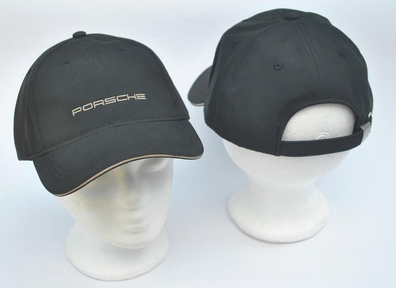 """Porsche - Gorra con texto """"Porche"""", color negro"""