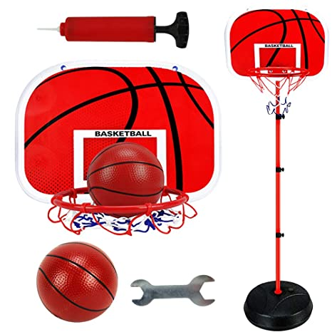 LIOOBO Set de Baloncesto para niños Lifting Basketball Frame Racks ...