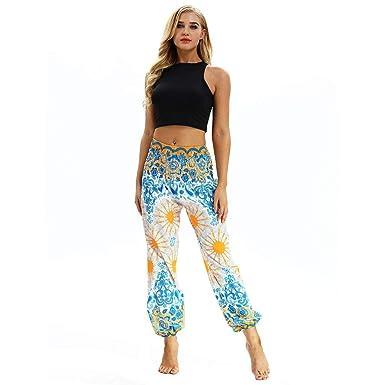 25935c1554f239 Pantalon De Sports Femme,ITISME Legging Hommes Femmes Jogging Décontractée  en Vrac Hippie Yoga Running
