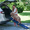 Pet Gear Travel Lite Bi-Fold Ramp for Cats/Dogs, Lightweight/Portable, Safety Tether Included, Rubber Grippers for Stability from PET GEAR