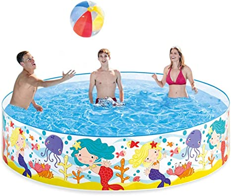 Per Hard Plastic Portable Pool Water Fun Kiddie Pools Kids Inflatable Swimming Pool 18338cm Amazon Ca Home Kitchen