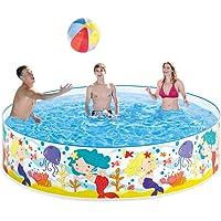 Lianle Foldable Pool,Hard Plastic Portable Pool Water Pond Pool Pet Pool & Kiddie Pools for Kids in The Garden