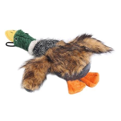 OULII Perro juguete chillón pato chillón perro juguetes para pequeños perros juguetes de peluche perro (