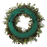 VILLAGE LIGHTING COMPANY Door Saver - Seasonal Padded Wreath Scratch preventing Door pad Protects Against Scratches on Holiday Front Door - fits Most 30'' Wreaths