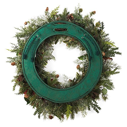 PANY Door Saver - Seasonal Padded Wreath Scratch preventing Door pad Protects Against Scratches on Holiday Front Door - fits Wreath Frames 24-30 inches ()