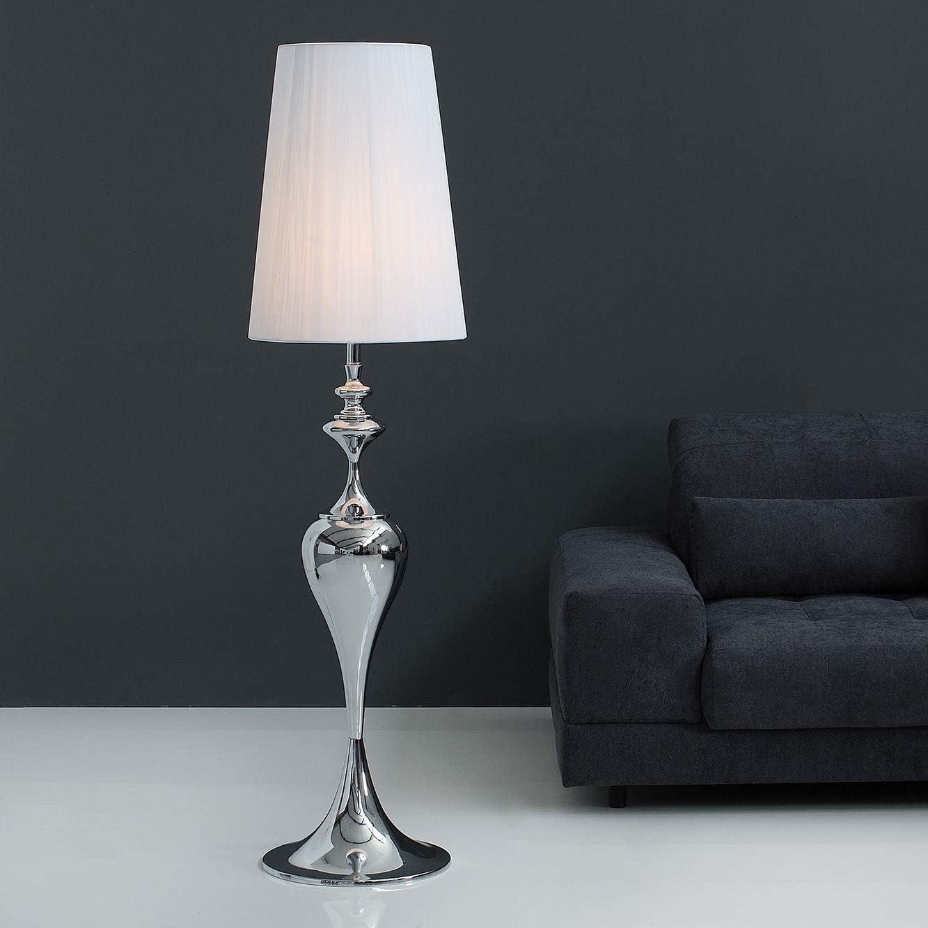 Cagu Design Barock Stehlampe Scarlet Weiss Mit Standfuss Aus