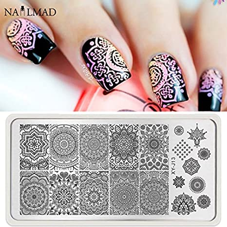 Buy New 1pc Mandala Nail Art Stamp Plate Mandara Plate Paisley