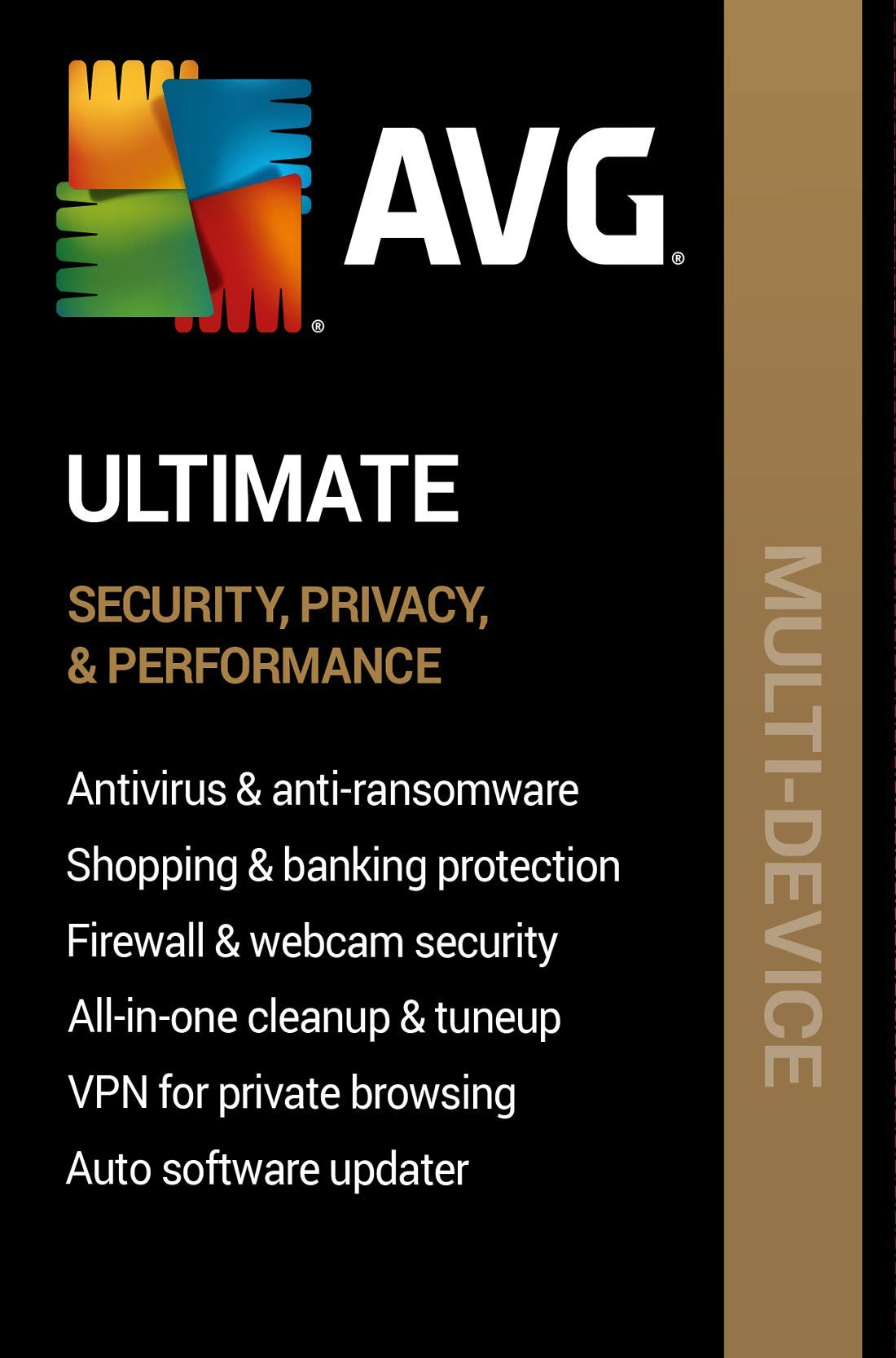 AVG Ultimate 2020 | 10 Devices, 2 Years [PC/Mac Online Code] by AVG