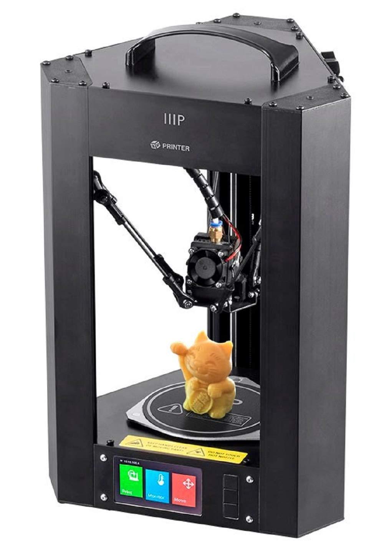 Monoprice Mini Delta 3D-Drucker von mit beheizter (110 x 110 x 120 mm) Bauplatte, automatische Kalibrierung, komplett fü r ABS- und PLA + -freie MicroSD-Karte mit druckbaren 3D-Modellen vorinstalliert 124168