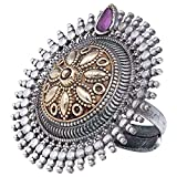 Product review for Aheli Indian Traditional Antique Boho Vintage Oxidized Jewelry Intricate Floral Carving Adjustable Statement Ring for Girls Women