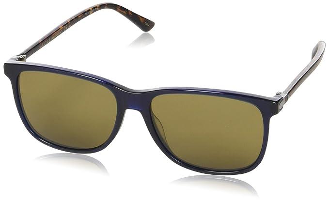 1309e588d9b93d Gucci GG0017S 005, Montures de Lunettes Homme, Bleu (Bluee Brown ...
