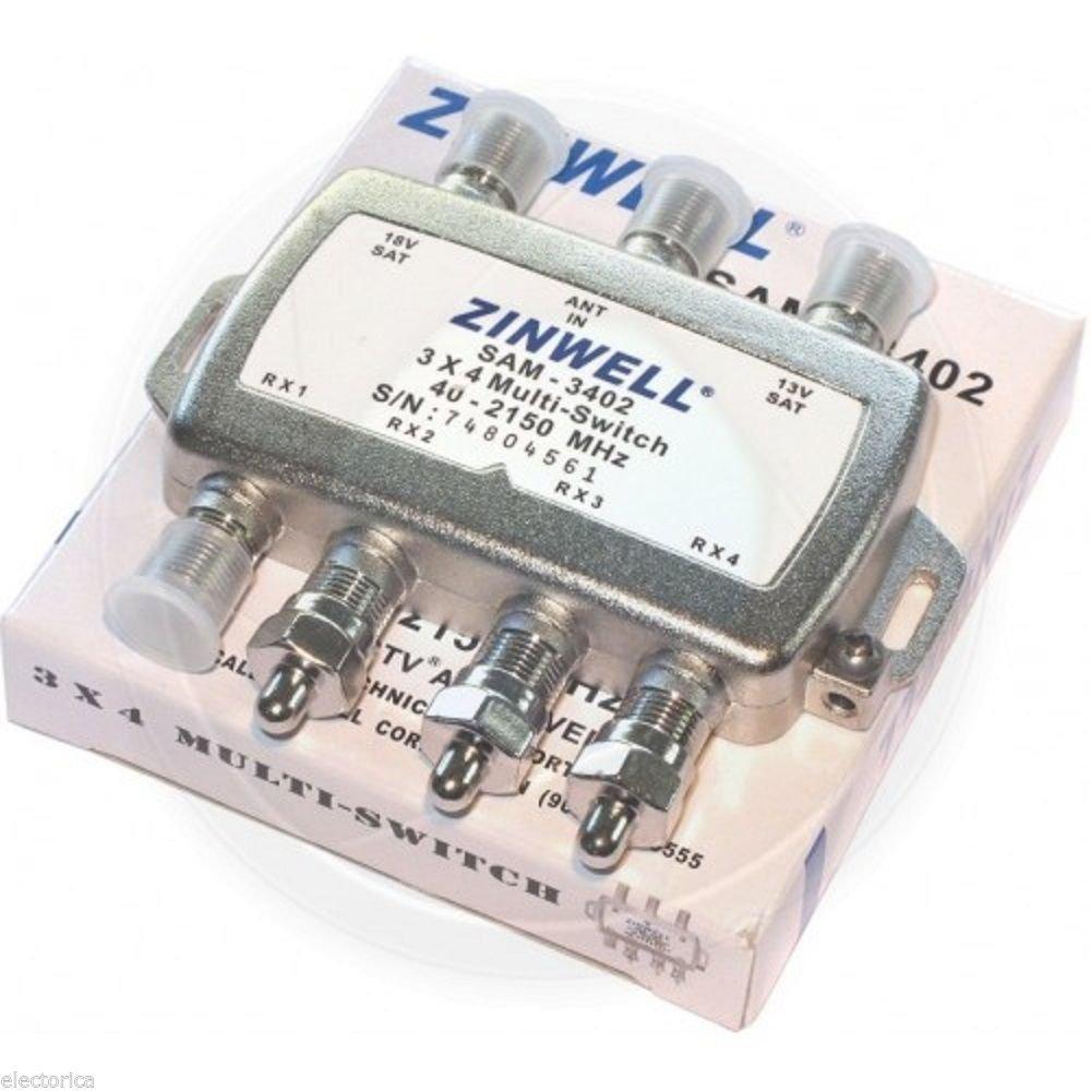 Zinwell Multiswitch Wiring Diagram Sam 3402 3x4 Light Amazon Com 3 X 4 Multi Switch Electronics