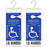 LotFancy Handicap Placard Holder- 10.6' x 5', Ultra Transparent Disabled Parking Placard Protector Hanger Sleeve - Pack…