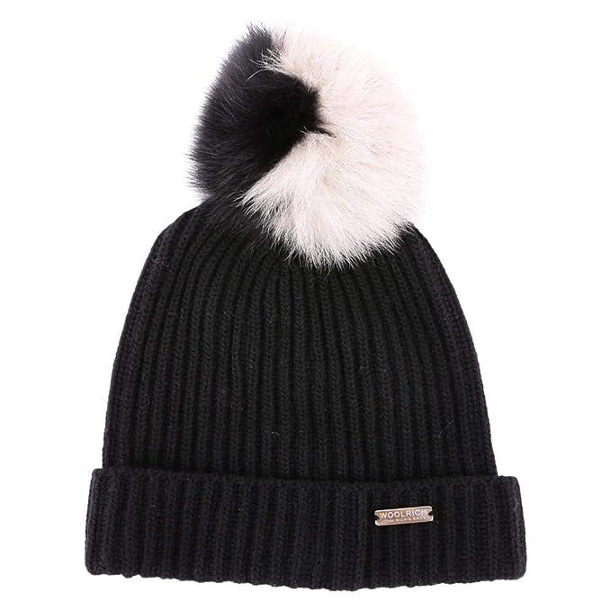 Woolrich WWACC1392 Cappello Donna Black M  Amazon.it  Abbigliamento ad90a153ef28