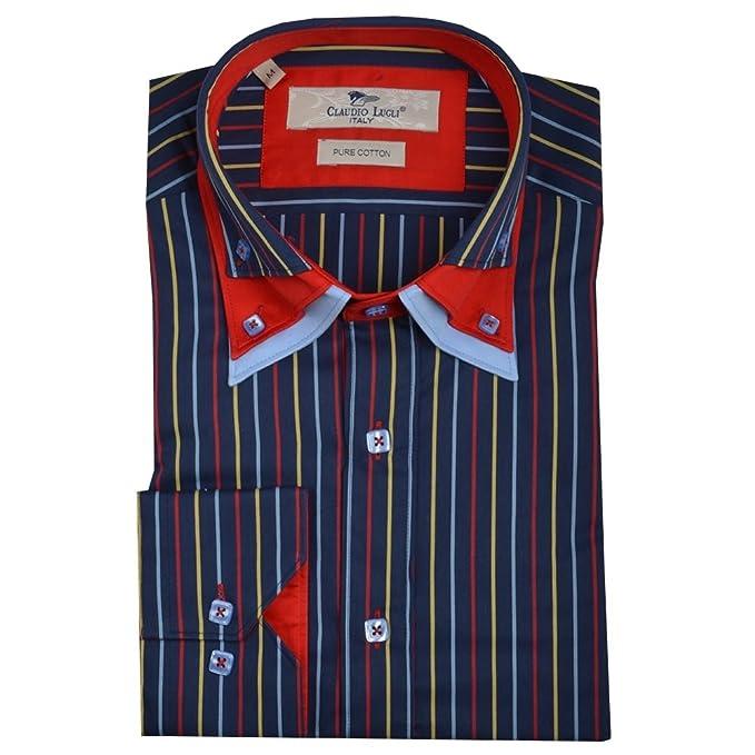 Camicia Casual Large Uomo Lugli Xxx Rosso Claudio deBrxoC