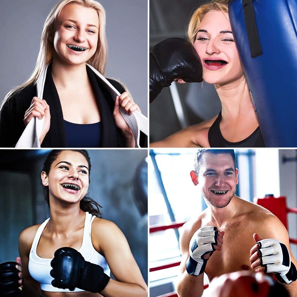 Aytop 2 Pezzi paradenti Sportivi per Adolescenti sopra i 15 Anni e Adulti bocchini Professionali Bretelle Eva modellabile Gum Shield per Boxe MMA Rugby Muay Thai Hockey