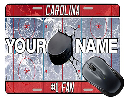 BRGiftShop Customize Your Own Hockey Team Carolina Square Mouse Pad