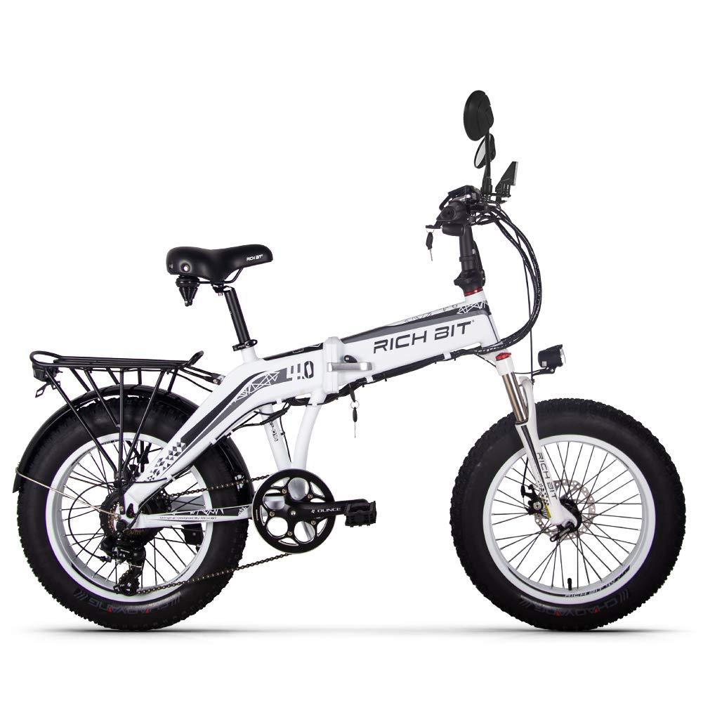 FS RT016 PAS 電動自転車 ファットバイク 2018モデル 500w 9.6AH大容量リチウムバッテリー 前後泥除け/ライト/ウィンカー B07K74SWK8 ホワイト ホワイト