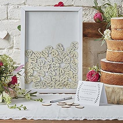 Amazon.com: Wedding Guest Book Ideas Wedding Games Frame & 70 Write ...