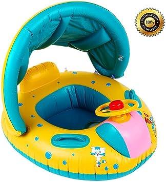 Amazon.com: S.K.L Flotador para bebé con toldo, asiento ...