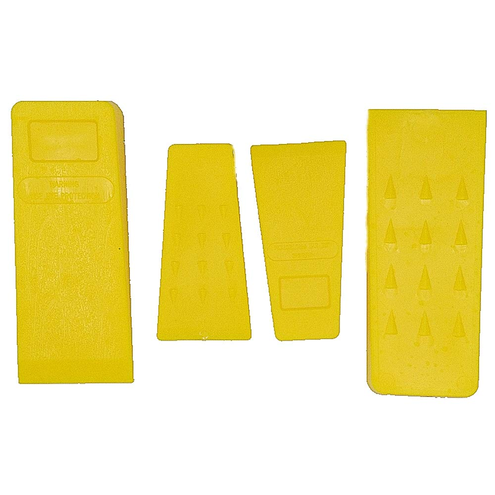TIPU 4-Pack Felling Wedge, Logging Supplies for Chain Saw, 5.5''(2-Pack), 8''(2-Pack)